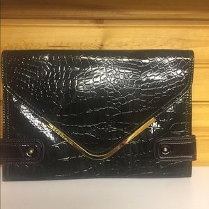 BCBGeneration Large leather clutch